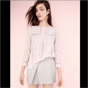 J. Crew Lace Embroidered Blouse